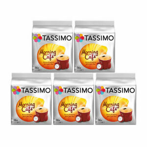Tassimo T Discs Morning Cafe 5 x 16 Coffee Pods 80 Drinks