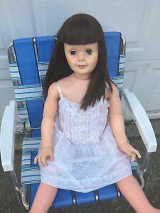 "Patti Clone Playpal Type Doll 35"" Sleep Eyes Companion Hong Kong Doll Vintage"