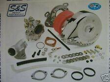 Per Harleys S&S 'Super E Carburatore Completo Kit 'Fare Offerta Grazie
