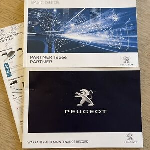 PEUGEOT PARTNER TEPEE HANDBOOK MANUAL BASIC GUIDE & NEW SERVICEBOOK GENUINE