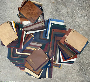 "14+Lbs 150pc Leather Sample 3/4-1/2oz.  8"" x  10"" Aniline High Quality Scraps"