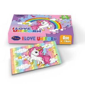 I Love Unicorn Puzzle pink and purple amazing gift kids aged 4-7 years