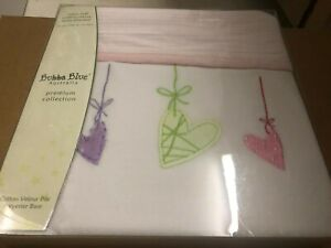 NEW Bubba Blue Sweet Heart Bassinet/Cradle/Pram Blanket -  Reversible