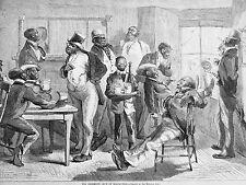 Eytinge Black Americana GENTLEMEN'S CLUB in BLACKVILLE 1878 Antique Print Matted