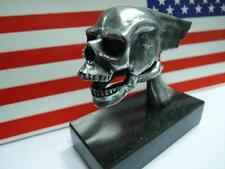 West Coast Choppers Style Flying Skull, Aluminum, hood ornament, paper weight