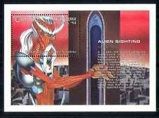 Nicaragua 1994 Aliens avistamiento/espacio/Sci-fi m/s n27394