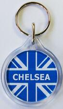 Chelsea Union Jack Keyring I1 Chelsea FC Key Ring