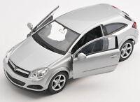 BLITZ VERSAND Opel Astra GTC 2005 silber silver Welly Modell Auto 1:34 NEU & OVP