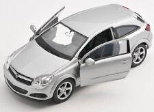 Livraison rapide Opel Astra GTC 2005 argent silver welly modèle auto 1:34 NOUVEAU & OVP