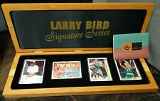 LARRY BIRD SIGNED AUTOGRAPH/Auto 4 CARD PORCELAIN:Upperdeck #/200<Celtics HOF