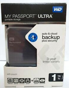 WD My Passport Ultra 1TB Portable Storage USB 3.0 Western Digital Drive ~ryokan