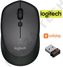 Logitech m335 Nero Wireless Laser Mouse ottico compatto unificante PC Laptop MAC