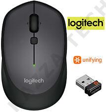 Logitech M335 Negro Inalámbrico Láser Óptico Compacto Mouse unificar Pc Laptop Mac