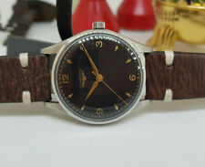 VINTAGE LONGINES BLACK DIAL 12.68ZS MANUAL WIND MAN'S WATCH