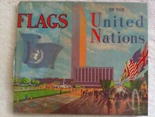 Flags of the United Nations Book May 1950 Drawing of Each Country w Flag Sticker
