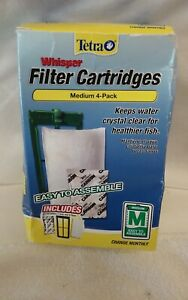 Tetra Whisper 4 Pack Medium Filter Cartridges, New In Box