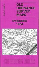 OLD ORDNANCE SURVEY MAP SWALEDALE CATTERICK BRIDGE HACKFORTH LEYBURN MARSKE 1904