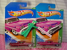 2011 Super & Regular TREASURE HUNT '58 IMPALA✿Magenta-Pink;realrider✿Hot Wheels