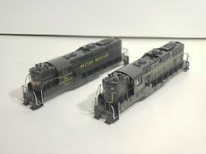 Set of 2 custom painted Athearn blue box GP-7 shells Western Maryland