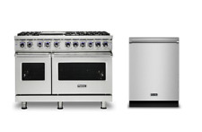 """Viking Pro 7 Series 48"""" Gas Range & Free Dishwasher - Vgr74826Gss"""