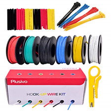22GA Hook up Wire Kit - 22AWG Silicone Wire - 600V Tinned Stranded Electrical of