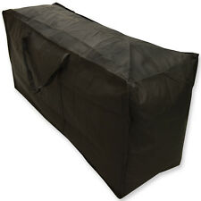 Woodside Waterproof Garden Furniture Cushion Storage Bag Black Heavy Duty