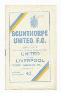 1961/62 SCUNTHORPE UNITED v LIVERPOOL (Division 2)