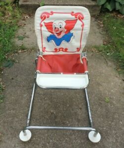 RARE Vintage Comfort Lines Bozo the Clown Baby High Chair Collapsable chair