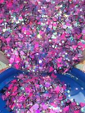 'Cotton Candy Crush' Glitter Mix Plus Free Gift!*1tsp* For Acrylic/Gel