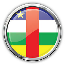 Central African Republic Glossy Flag Label Car Bumper Sticker Decal 5'' x 5''