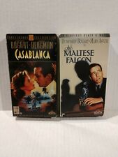 Casablanca 50th Anniversary Collector's Edition and Maltese Falcon (Vhs, 1992)