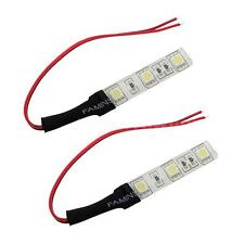 2 Strips 5050 SMD 3LED White Strip Light Flexible Waterproof For Cars Boats 2PCS