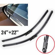 "24""+22"" Front Windshield Wiper Blade Bracketless Fit Volvo V70 S60 S80 XC70 XC90"