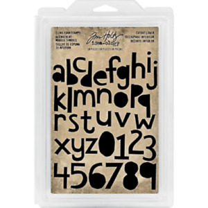 Tim Holtz Cutout Lower Cling Foam Alphabet/Numbers Stamps - 38 Pieces