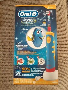 Oral B Finding Dory Kids Musical 16 Tunes Rechargeable Stages Power Toothbrush