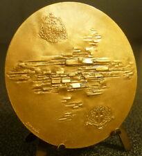 Médaille SNCF liaison Paris Marseille 1962 sc Demarchi chemin de fer 69 mm Medal