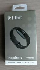 New listing Fitbit Inspire 2 Activity Tracker Fitness Watch Black w/ Box, Bands, Charger