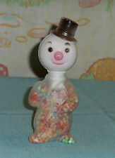 vintage E. ROSEN Christmas plastic SNOWMAN CANDY HOLDER container