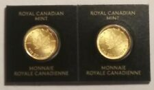 2020 Canada Gold Maple Leaf 1 Gram 2 Coin Set .9999 Fine