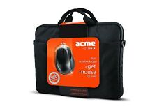 "New! Acme 15.6"" Black notebook cases bag Sleeve inc optical mouse!  113596"