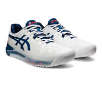 Asics Mens Gel-Resolution 8 Tennis Shoes White Sports Breathable Lightweight