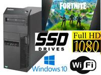 Gaming PC Desktop Computer LENOVO A8-5500 8GB 128GB SSD+1TB R5-430 Win10 WIFI