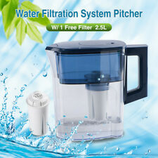 Water Pitcher + Filter Blue 5 Cup Water Filtration System Compatible with Brita