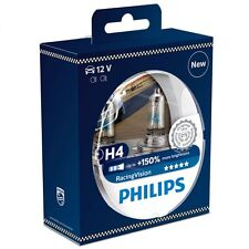 H4 PHILIPS RACING VISION 3500K 150+% Ultimate White Light Bulbs Headlamp Globe