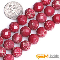Natural Gemstone Red Sea Sediment Jasper Spacer Loose Beads For Jewelry 6mm 8mm