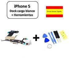 CABLE FLEX DOCK CONECTOR DATOS IPHONE 5 BLANCO NUEVO CARGA + HERRAMIENTAS