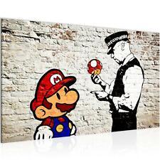 Wandbild XXL Modern Wohnzimmer - Mario and Cop Banksy  - Schlafzimmer Bilder