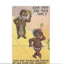 Can You Tie This One? Postcard Pickaninny Series 206