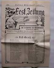 Berlin 1901 Fest Zeitung 200 Jahrfeier des Gesundbrunnens Gesundbrunnen Wedding