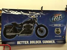 "HARLEY-DAVIDSON Miller Lite 105th Anniversary Poster/Banner 2008 Large 66"" x 36"""